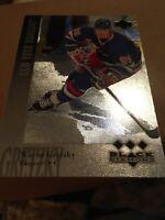 1996-97 UPPER DECK BLACK DIAMOND WAYNE GRETZKY Insert Card # 8 Rare NY Rangers