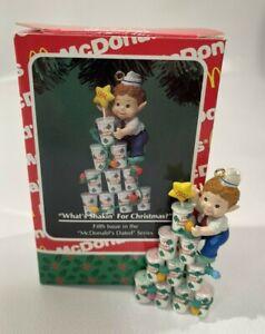 Vtg Enesco McDonalds What's Shakin Christmas  Ornament 1994