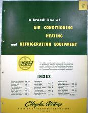 Chrysler Corp Airtemp Air Temp Catalog Heater Furnace Asbestos History 1950's