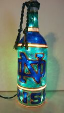 Notre Dame Inspiered Hand painted Wine Bottle Lighted Stained Glass look