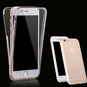 360 Front + Back shockproof TPU Clear Gel Case Cover For iPhone  X / XS