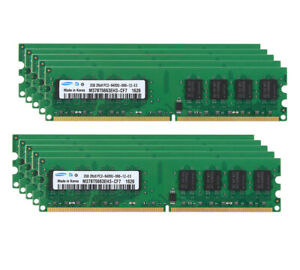 Lot Samsung 2GB 2RX8 DDR2 PC2-6400S 800Mhz UDIMM Memory Desktop RAM 2 G 4 G 8G #