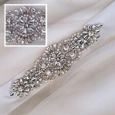 LILY Bridal Sash, Pearl, Rhinestone, Wedding Dress Sash, Bridal Belt, Diamante
