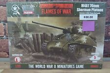 Flames of War USA M4A1 76mm Sherman Platoon UBX05 NEW!FACTORY SEALED! Miniatures