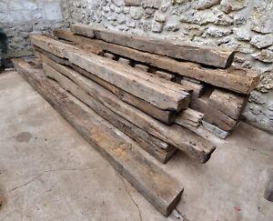 LOT 15 POUTRES ANCIENNES en bois de chêne centenaire