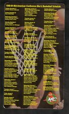 Mid-American Conference--1998-99 Basketball Magnet Schedule