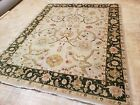 8x10 INDO OUSHAK SULTANABAD ZIEGLER RUG AUTHENTIC HAND KNOTTED WOVEN 100% WOOL