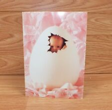 Genuine Anne Geddes Photography/Card 1993 Egg Emily Photograph Greeting Card