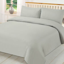 Brentfords Plain Duvet Cover & Pillowcase Reversible Bedding Set OR Fitted Sheet