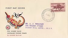 Stamp Australia 5/- cattle herding issue on WCS generic FDC Broken Hill South