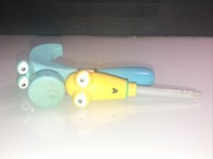 Handy Manny Replacement Tools Blue Hammer and Yellow Screwdriver