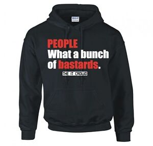 """THE IT CROWD """"BUNCH OF B*!*#*DS"""" HOODIE NEW"""