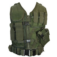 Olive Green USMC Tactical Vest Combat Assault Airsoft Army Molle Attachment Rig