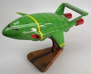 TB-2 Super Marionation Thunderbird-2 Spacecraft Desktop Wood Model Small New