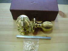 Frank Allart 1027PB Mortice Knobs Reeded Pattern in Polished Brass