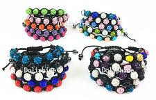 SHAMBALLA BRACELET 9*10mm Crystal ball/beads adjustable size US Seller