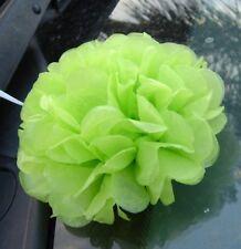 20x 13cm Green mini paper pom poms garland wedding baby shower venue decoration