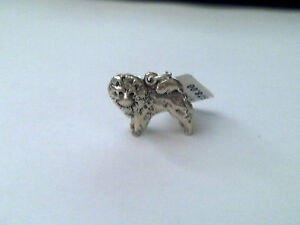 Sterling Silver Chow Dog charm/ pendant New RRP $78