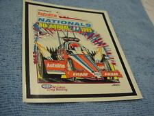 1995 AUTOLITE FRAM NATIONALS NHRA EVENT DECAL @ SONOMA