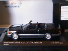 MERCEDES BENZ 300 CE-24 W124 CABRIOLET 1990 BLACK MINICHAMPS 400037030 1/43