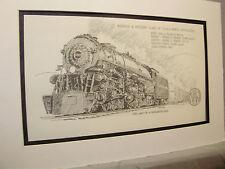 Norfolk Western 2-6-6-4 Class A  Articulated 1976 Exhibit Pen Ink Monster Steam