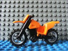 Lego Orange Mini Crosser Hors Route Motocycle Moto Moto GP Mini Figurines