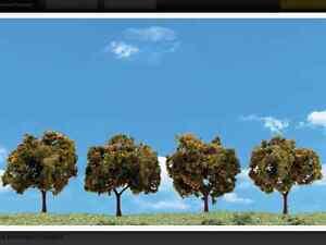 "Woodland Scenics N, HO, or O Scale Orange Trees  2-3""  4 Pack  Item # TR3592 F/S"