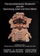 Josef & Anni Albers präkolumbische Skulpturen Ausstellungsplakat Poster & Rahmen