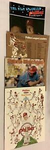 Lot of 4 1970's Philadelphia Phillies Yearbook Magazines1976 1977 1979 1984