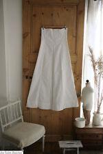 PURE vintage HEAVY crispy thick COTTON bottom DRESS C 1900