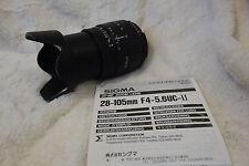 SIGMA 28-105 mm 1:4 - 5.6 UC Zoom NIKON AF Avec Capuche