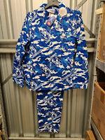 North Melbourne Kangaroos AFL Mens Camo Printed Flannel Pyjama Set Size M New