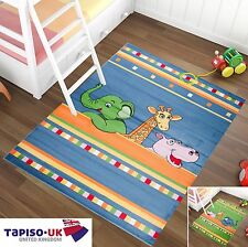 Kids Rug ANIMALS ZOO PLAYROOM Children's Bedroom DIFFERENT SIZES COLOURS CARPETS