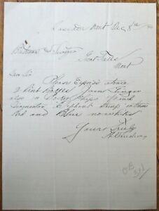 Cascade, MT 1894 Letterhead: Order for Poker Chips w/Elephant - Montana
