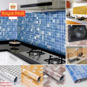 Kitchen Waterproof Anti Oil Stick on Wall Tile Decal Sticker Self adhesive 2M UK