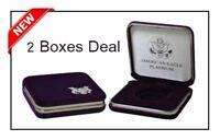 2 US Mint Presentation Gift Display Boxes 1/10 Oz Platinum American Eagle Boxes