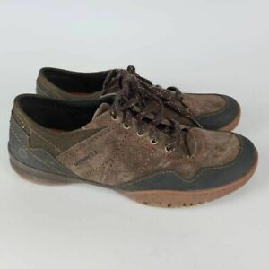 Merrell Womens Albany Hiking Shoes Expresso Brown J42530 Lace Up Low Top 9.5 M