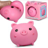 SQUISHKINS PIGGY - 37047 SQUISHY ANTI STRESS OFFICE TOY PIG CUTE PINK SQUEEZE