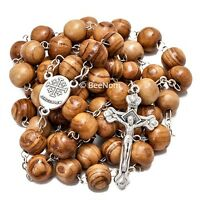 Christian Rosary Beads from Olive Wood with Jesus Christ Crucifix from Holy Land