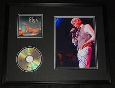 Dennis Deyoung Signed Framed 16x20 Sketch & Styx CD Display