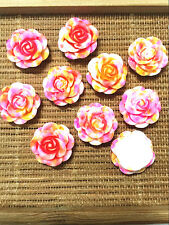 Resina Roja Flatback Apliques de flor de loto para Teléfono//Bodas//Artesanías Verde 20 un