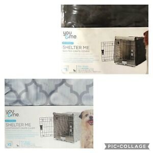 You & Me Dog Shelter Me Crate Cover Geometric or Brown XS Size