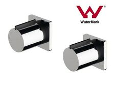NEW Chrome Round Square 1/4 turn Shower spa bath wall taps top assembly set