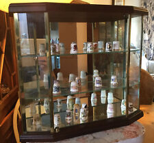 An Original Crystal Art Collectors Case Display Cabinet Glass, Brass & Wood