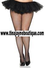 Plus Size XXL New Ladies Womens Seamless Fishnet Tights Pantyhose Black