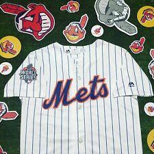 MLB Majestic World Series 2015 New York Mets Blank Jersey Youth 10/12 Medium