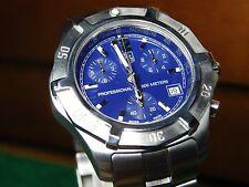 TAG Heuer CN1112 Blue Dial 2000 Series Exclusive Quartz 1/10 Chronograph