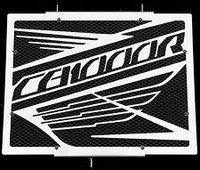 """cache / Grille de radiateur inox Honda CB1000R """"Wing"""" + grillage noir"""