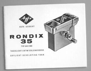 Agfa Rondix 35 Instruction Manual (English & German)