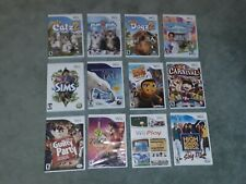 WII GAMES YOU CHOOSE: 12 DIFFERENT PETZ SIMS CARNIVAL WII PLAY ZUMBA BEE MOVIE +